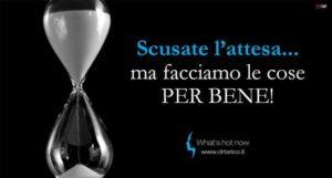 Read more about the article Il tempo di attesa: un valore aggiunto per chi comprende la qualità di un servizio.